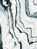 Texture de marbre noire et blanche Images libres de droits