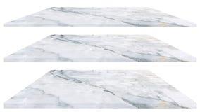 Texture de marbre de plancher d'isolement sur le fond blanc pour la conception photos stock