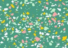 Texture de marbre de vecteur de sol de mosaïque Fond dernier cri surface de modèle de plancher Conception intérieure moderne bann illustration de vecteur
