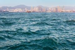 Texture de mer de port de Hong Kong Images libres de droits