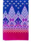 Texture de modèle en soie thaïlandais, textile de la Thaïlande Photographie stock