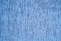 Texture de mur bleu de plâtre Photos stock
