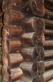 texture de mur de Bloc-maison Photo stock