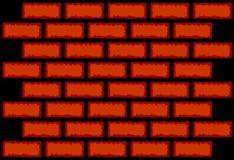 Texture de mur de briques de vecteur Images stock
