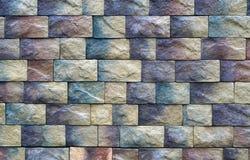 Texture de mur de différents blocs colorés de pierre Images libres de droits