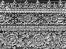 Texture de mur de modèle de stuc de fleurs Photo libre de droits