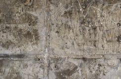 Texture de mur en béton Vieux mur avec des traces de la saleté, du temps et de l'eau abrégez le fond Image stock