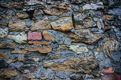 Texture de mur en pierre Photographie stock libre de droits