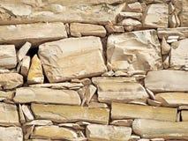 Texture de mur en pierre, couleur beige Image libre de droits