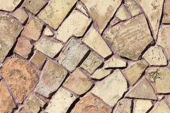 Texture de mur en pierre de mosaïque Photo stock