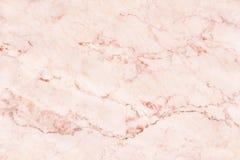 Texture de mur de marbre d'or de Rose pour l'oeuvre d'art de fond et de conception, modèle sans couture de pierre de tuile avec l photos libres de droits