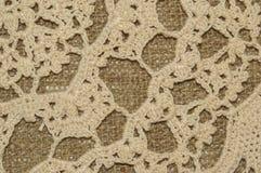 Texture de napperon de crochet Images libres de droits