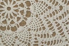 Texture de napperon de crochet Photos libres de droits
