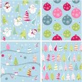 Texture de Noël, configurations Photo libre de droits