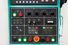 Texture de panneau de commande de commande numérique de commande numérique par ordinateur avec un bon nombre de boutons dans le f Image stock