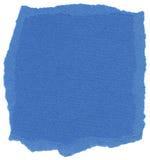 Texture d'isolement de papier de fibre - touffes bleu Photo libre de droits