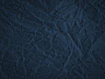Texture de papier chiffonné bleu-foncé de métier image stock