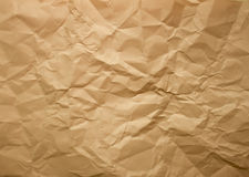 Texture de papier chiffonnée Photos libres de droits