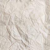 Texture de papier chiffonnée par blanc sans couture images libres de droits