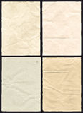 Texture de papier chiffonnée par quatre Images stock