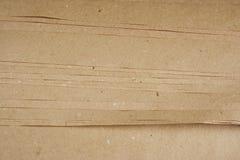 Texture de papier d'emballage de papier de Brown Images stock