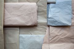 Texture de papier d'emballage d'en haut photos stock