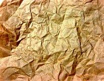 Texture de papier d'or froissée Photographie stock libre de droits