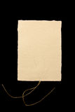 Texture de papier fabriqué à la main Photographie stock