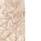 Texture de papier - feuille de papier brun Papier chiffonné texturisé Photos libres de droits