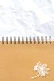 Texture (de papier) froissée Feuille de papier Images stock