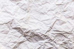 Texture (de papier) froissée Livre blanc Image libre de droits