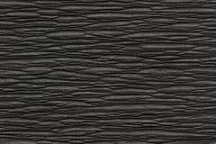 Texture de papier noire chiffonnée Photos libres de droits