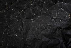 Texture de papier noire, fond de papier chiffonné de texture Photographie stock