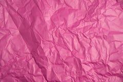 Texture de papier rose chiffonnée Photographie stock