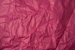 Texture de papier rose chiffonnée Image libre de droits