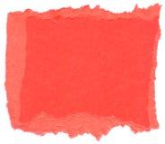 Papier rose foncé de fibre - bords déchirés Photos libres de droits