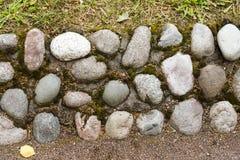 Texture de pavé rond Fond de pavé rond Fond naturel Vieux pavés ronds Images libres de droits