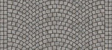 Texture 062 de pavé rond incurvée par route illustration de vecteur