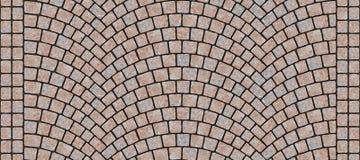 Texture 066 de pavé rond incurvée par route illustration libre de droits