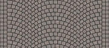Texture 074 de pavé rond incurvée par route illustration stock