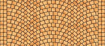Texture 070 de pavé rond incurvée par route illustration libre de droits
