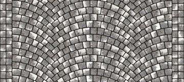 Texture 087 de pavé rond incurvée par route illustration stock