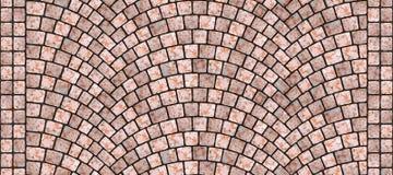 Texture 094 de pavé rond incurvée par route illustration stock