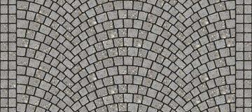 Texture 097 de pavé rond incurvée par route illustration libre de droits