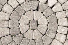 Texture de pavage en pierre de cercle Images libres de droits