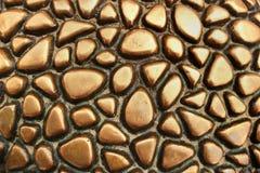 Texture de peau de tortue en métal image libre de droits