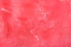 Texture de peinture à l'huile, fond rouge abstrait Photographie stock libre de droits