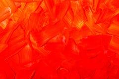 Texture de peinture à l'huile, fond rouge abstrait Images stock