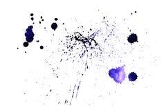 Texture de peinture d'éclaboussure Fond approximatif de détresse Taches violettes de jet d'aquarelle Vecteur abstrait Tiré par la illustration libre de droits