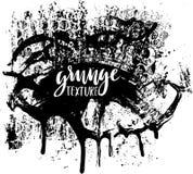 Texture de peinture d'éclaboussure Fond grunge Tache d'encre noire Place pour le texte Tronçon sale d'effet Illustration de vecte Photo stock
